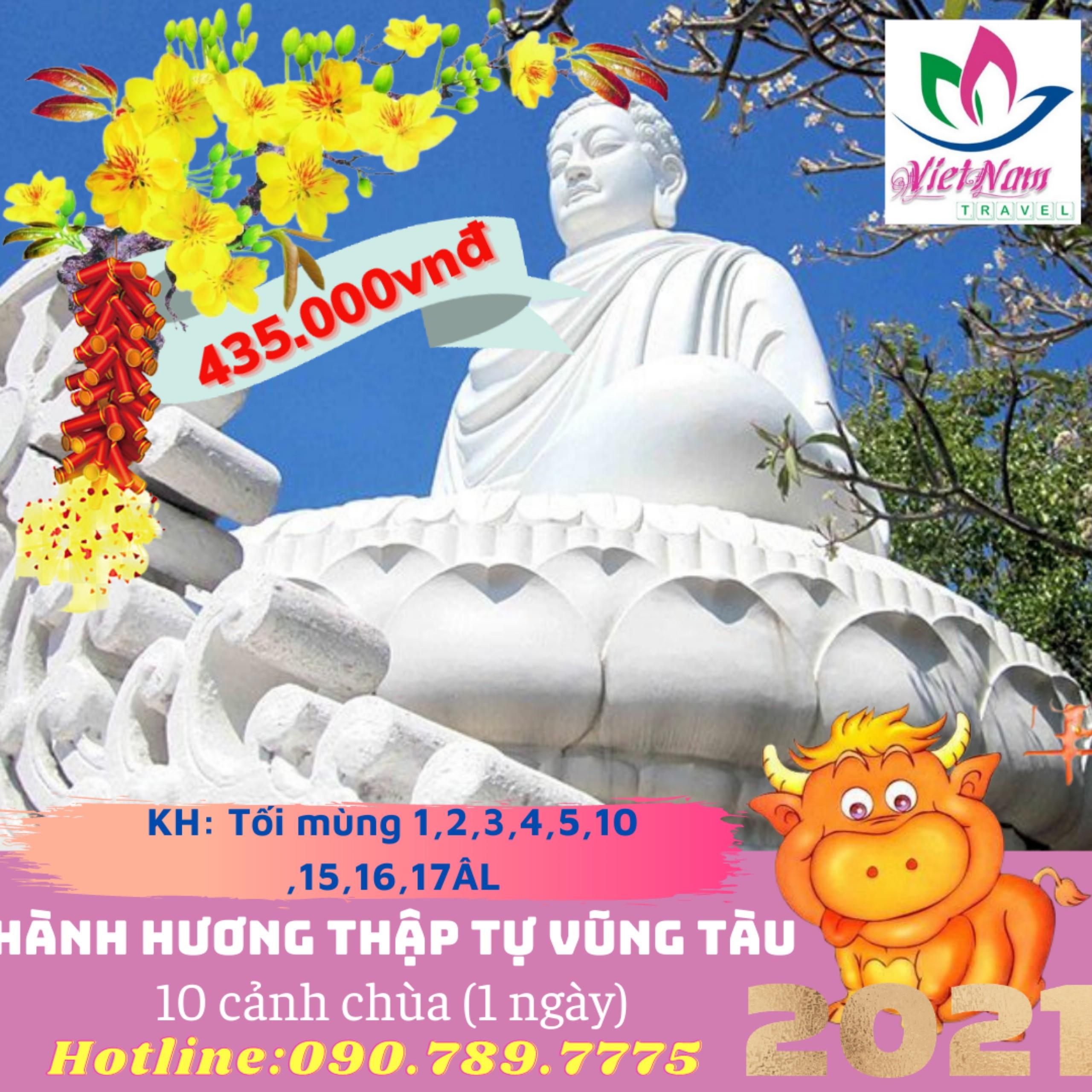 Tour Sài Gòn -  Vũng Tàu - Vãng Cảnh Thập Tự